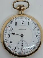 "Antique 1916 ILLINOIS ""Burlington"" Private Label Railroad RR Grade Pocket Watch"