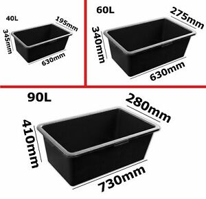 40L / 60L / 80L HEAVY DUTY PLASTIC STORAGE BOX BOXES RECYCLED UPCYCLED