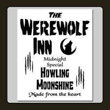 10 X 12 STENCIL The WEREWOLF INN/Howling Moonshine Halloween/Sign/Pub/Tavern