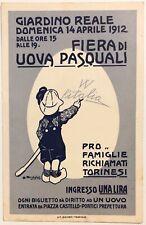 GIARDINO REALE FIERA DI UOVA PASQUALI 1912 Torino cartolina pubblicitaria