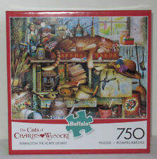 Buffalo 750 Piece Puzzle Cats of Charles Wysocki REMINGTON THE HORTICULTURIST