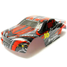 18605 Off Road Nitro RC 1/16 Scale Monster Truck Body Shell Cover Red Cut