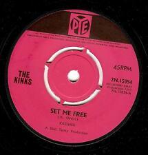 THE KINKS Set Me Free Vinyl Record 7 Inch Pye 7N 15854 1965 EX