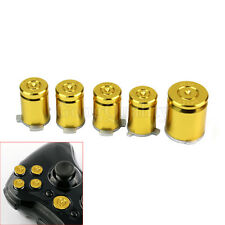 5 Pcs Golden Bullet ABXY Guide Buttons Replacement Part For Xbox 360 Controller