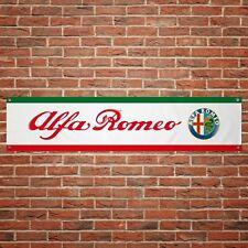 Alfa Romeo Banner Garage Workshop PVC Sign Trackside Motorsport Car Display