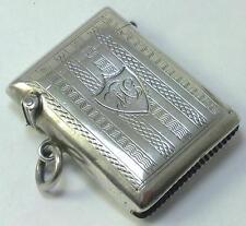 Antique hallmarked Sterling Silver Vesta Case – 1907