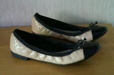 Ladies CLARKS CAROUSEL CURL Elasticated Ballerina Shoes Size 8 D Fit EXCELLENT