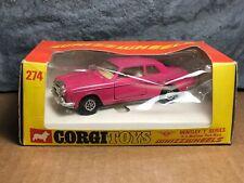 Vintage Corgi | 274 | Bentley T Series | Whizzwheels | Pink | Original Box