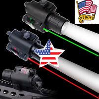 Tactical Red/Green Laser Sight+Q5 CREE LED Flashlight Combo 20mm Picatinny Rail