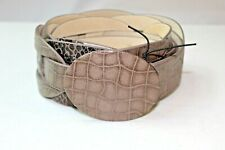"UNBRANDED SHADES OF BROWN ANIMAL PRINT BRAIDED LOOK 2.5"" WIDE BELT #212"