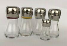 Alessi set 5 contenitori Zenit olio aceto e spezie Marc Newson, 2001
