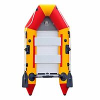 A 9.8ft Inflatable Boat Dinghy Raft Kayak Aluminum Alloy Floorboard for 4 Person