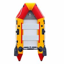K 9.8ft Inflatable Boat Dinghy Raft Kayak Aluminum Alloy Floorboard for 4 Person