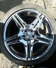 "2011 Mercedes S63 20"" CHROME RIM WHEEL OEM REAR AMG 85031 A2214016302"