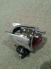 BICYCLE REAR DUMMY LIGHT BULLET WITH WINGS RED CHROME CRUISER CHOPPER LOWRIDER