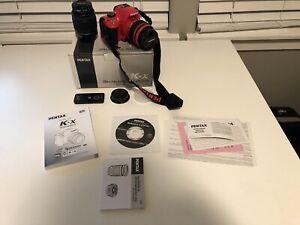 PENTAX K-x 12.4MP Digital SLR Camera Kit w/ AL 18-55mm and 50-200mm Lens