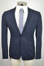 (42S) Bar III Men's Navy Blue Wool SLIM FIT 100% Wool Suit Jacket Blazer