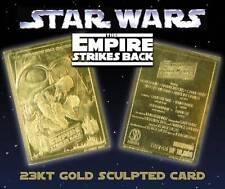 Star Wars EMPIRE STRIKES BACK Movie Poster 23KT Gold Card Sculptured #/10,000