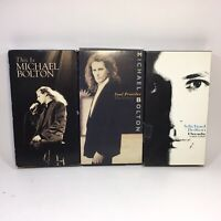 Micheal Bolton Music Lot of 3 VHS VCR Tapes 1990 - 1995 Used Video