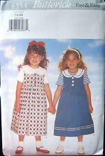 Butterick 4354 Children's Dress & Top Sewing Pattern Uncut Sz 5-6-6X