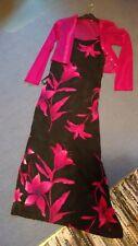 Attraktives Lisa Tossa Sommerkleid Gr. 38 mit passendem durchsichtigem Jäckchen