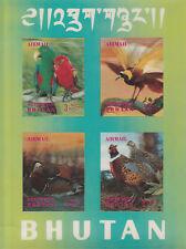 Bután 4782-Pájaros 1969 #2 M/hoja en formato dimensional 3 3-D