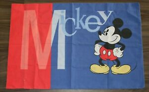 VTG Disney Mickey Mouse Color Block Red and Blue Pillow Case
