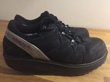 MBT Sport Shape-UPS Black Suede Mesh Lace-Up Shoes Sneakers Women's Size 8