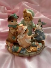 """More details for cherished teddies - #666718 """"circle of love"""" exclusive figurine boxed new"""