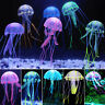 Aquarium Jellyfish Glowing Effect Fish Tank Silicone Artificial Ornament Decor