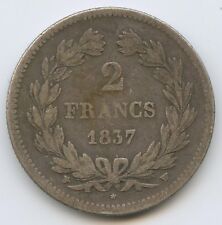 Louis-Philippe (1830-1848) 2 Francs 1837 W Lille