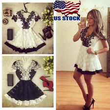 Sexy Womens Clothing Lace dress Short Mini Dresses V-neck Party Evening Cocktail
