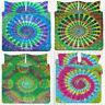 King Size Mandala Hippie Gypsy Indian Bedsheet Bedspread Mandala Tie Dye Bedding