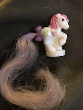 Vintage Hasbro My Little Pony Petite Ponytail Ponies  White / Pink Hair