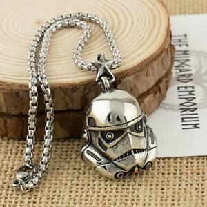 Star Wars Stormtrooper Necklace Stainless Steel Mens Jewellery