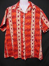 ALFRED SHAHEEN Honolulu Vintage 50s/60s Hawaiian Style Shirt L/Large NIIHAU TAPA