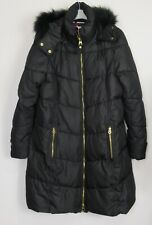 New Joules Women's Black Quilted Puffer Coat - Size 12