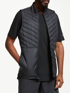 Nike Aerolayer Thermal Running Gilet Vest Full-Zip Black Size: S, XL
