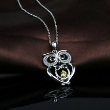 Mom and Baby Owl Necklace sterling silver Mother and Child Owl Necklace