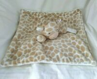 Carter's Giraffe Security Blanket Lovey Brown Pacifier Holder 2016 Soft Fleece