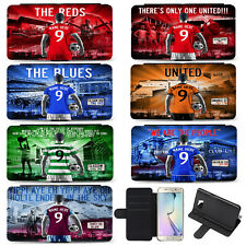 Football Samsung Phone Case S10 Flip Card Cover Mens Personalised ALL TEAMS AF