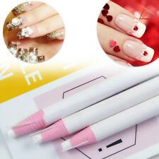 2Pcs Wax Rhinestone Picker Pencil Nails Art Accessory 17cm Length PinkWhite