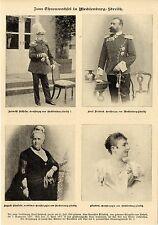 Al trono di cambio nel Meclemburgo-Strelitz * Historical memorabilia di 1904
