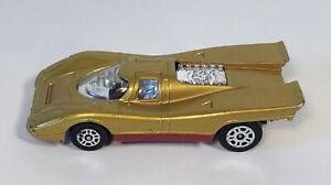 Vintage Corgi Juniors Whizzwheels Porsche 917 Gold W Red Base Nice