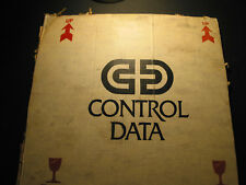 CDC Control Data cardboard box collectible graphic markings w/Western Airlines