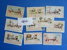 """N°12620 / 10 cartes postales humoristique """"CHARLEY fait de l'auto"""" MICH"""