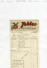 Suisse - Berne - Belle Entête Célèbre Chocolaterie Suisse TOBLER du 07/12/1912
