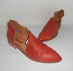 Free People Flat Royale Bootie in Red/Orange Size 39