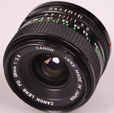 Excellent CANON Lens FD 28mm f 2.8  S/N 387824 - Free Shipping