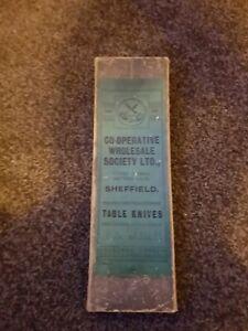 Co Operative Wholesale Society Ltd Sheffield VINTAGE table Knives Boxed